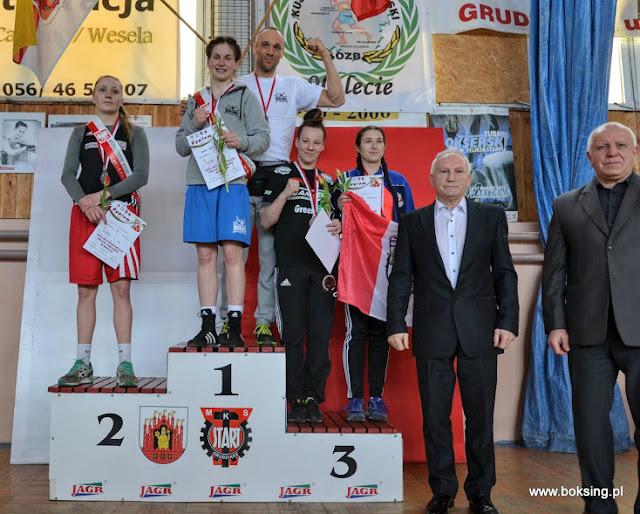 """SKF """"BOKSING"""" ZIELONA GÓRA na XVII Mistrzostwach Polski Seniorek w Boksie, Grudziadz 2017!"""