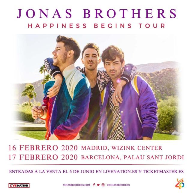 Los Jonas Brothers anuncian concierto en Barcelona y Madrid