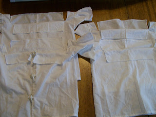 Infant shirts, 1850s/1860s style, from the Sewing Academy-100 Infants' Linens Pattern.
