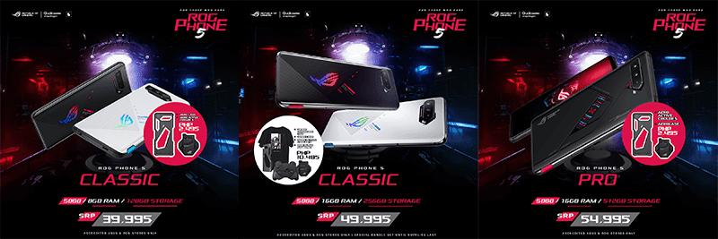 ROG Phone 5 Classic and 5 Pro
