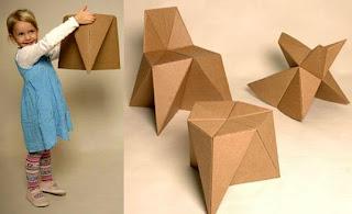 Silla de cartón para niños