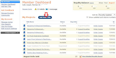 createspace member dashboard