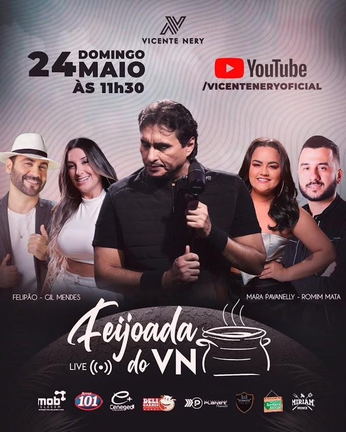 24/05/2020 Live Show do Vicente Nery [Feijoada do Vicente Nery] domingo - 11h30