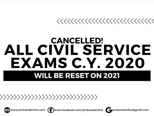No Civil Service Exams for Year 2020