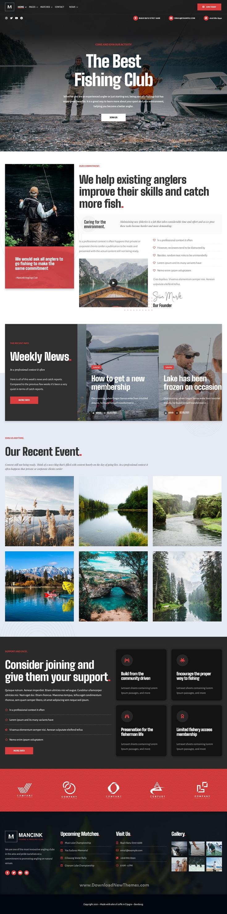 Fishing and Angling WordPress Theme