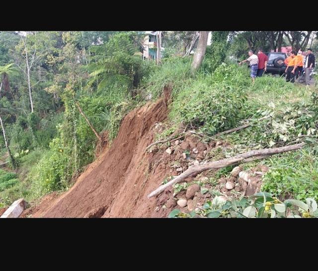 Waspada Longsor dan Pohon Tumbang Walikota Pagar Alam : Hati - Hati Melintasi Jalan
