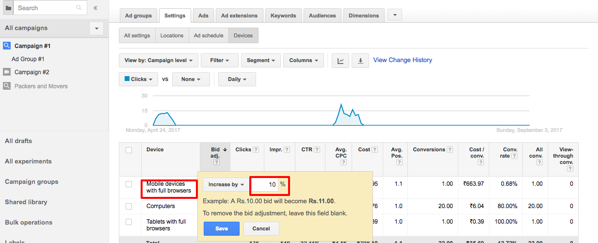 How to use Bid Adjustment to Get more Leads in Google AdWords