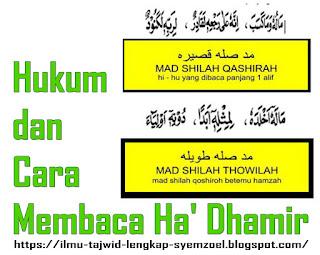 Hukum dan Cara Membaca Ha' Dhamir