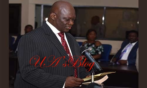 JUST IN: Gov Ayade Swears In Justice Maurice Eneji As The New Acting Chief Judge Of Cross River State.