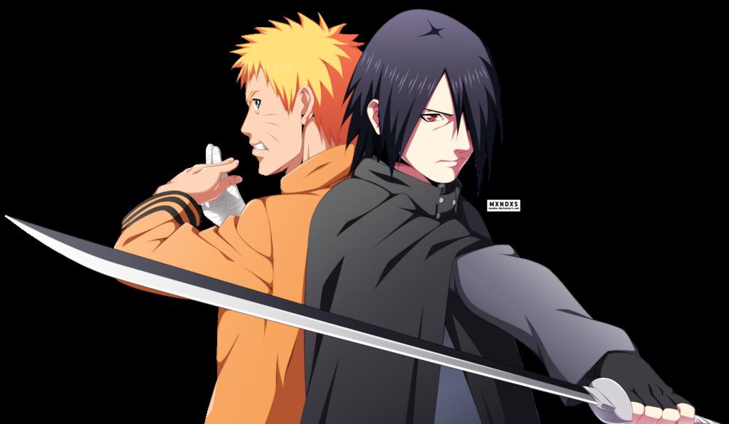 render Naruto Uzumaki,Sasuke Uchiha