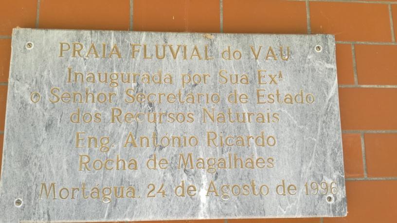 Placa Praia Fluvial do Vau