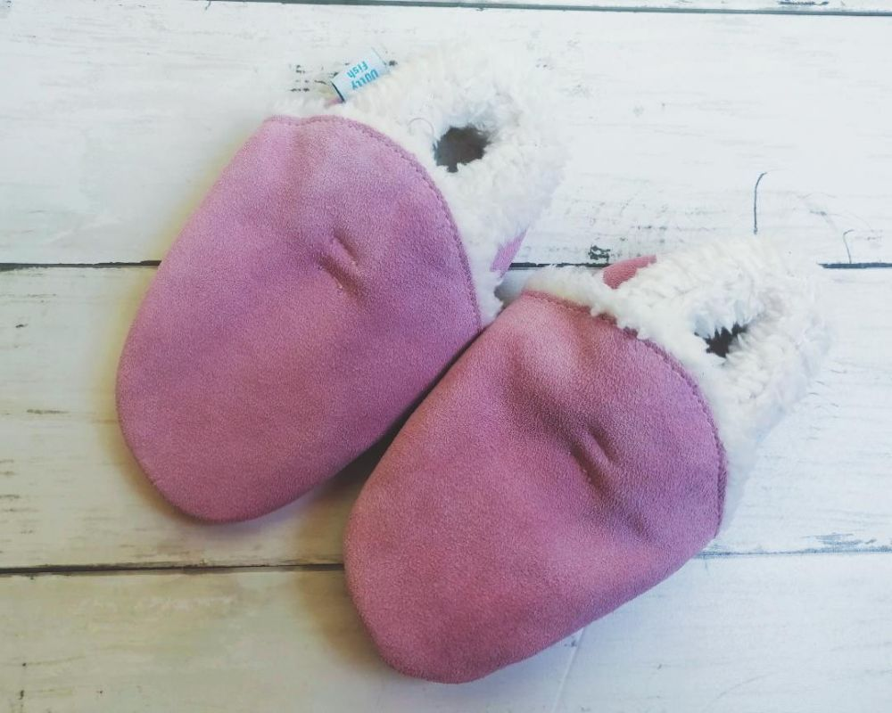 Soft Pink Suede Slippers review
