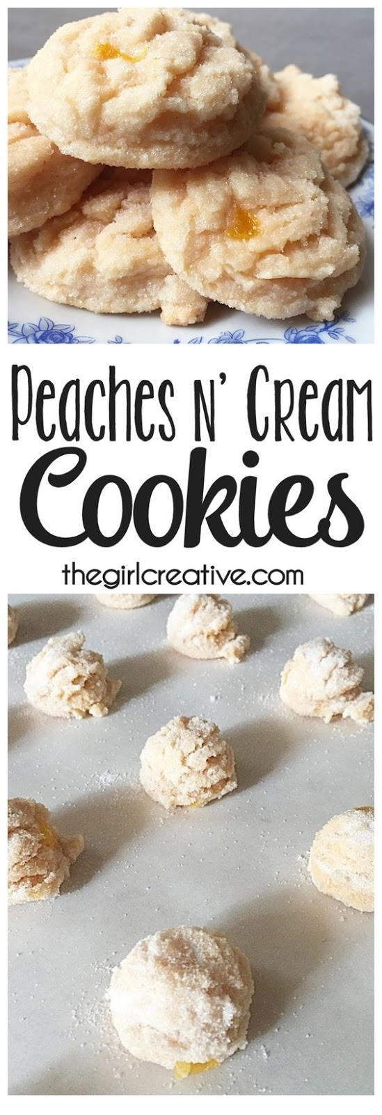 Peaches N' Cream Cookies