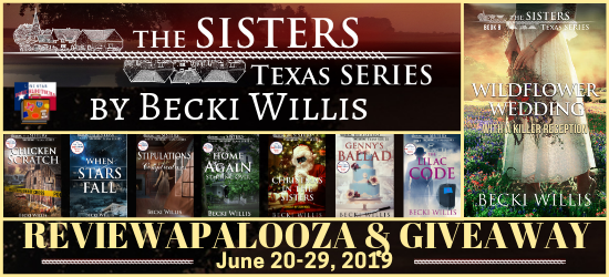 The Sisters Series book blog tour promotion banner