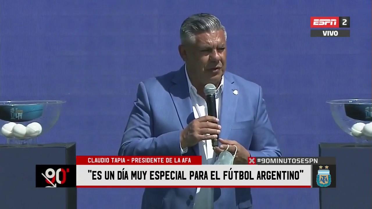 Claudio Tapia presidente de AFA Liga Profesional de Fútbol