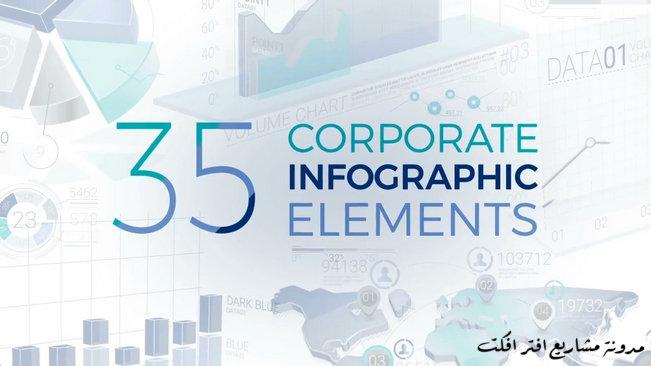 #مشروع_افتر_افكت | 35 عنصر انفوجرافيك متحرك للشركات رائع | CS6 فأعلى