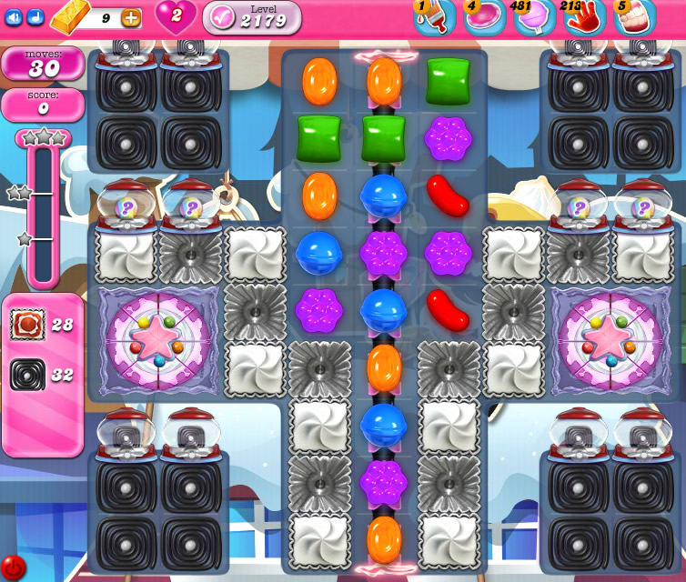 Candy Crush Saga level 2179