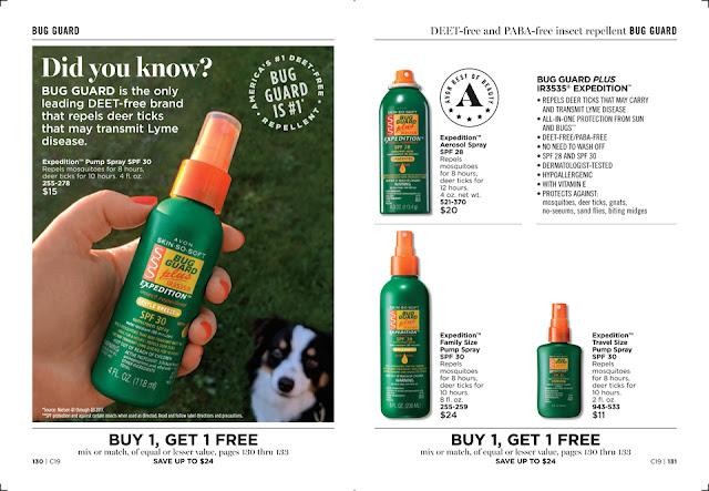 avon catalog - skin so soft bug guard sale