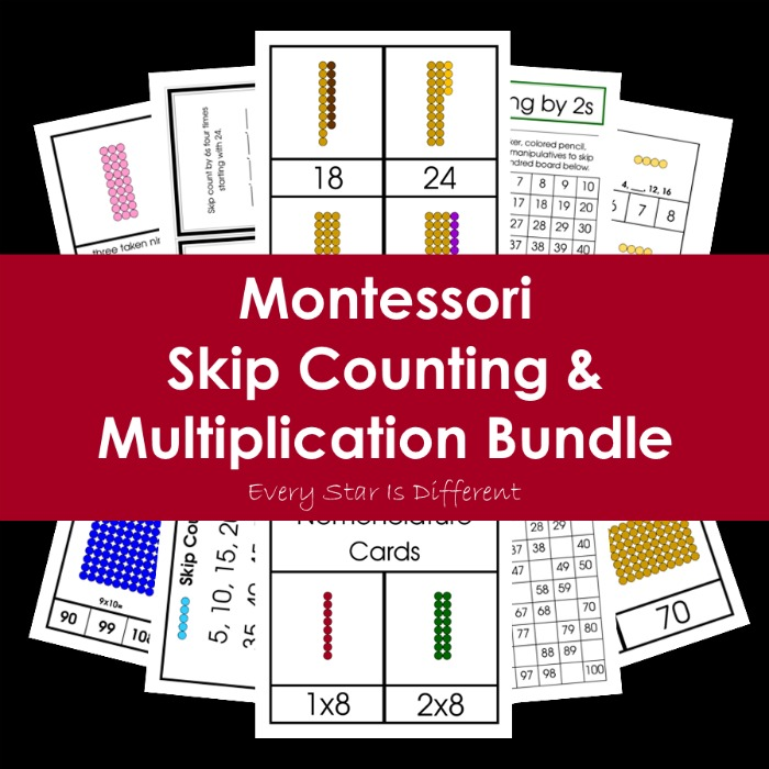 Montessori Skip Counting and Multiplication Bundle