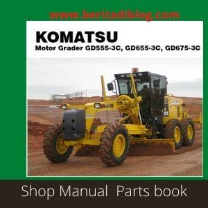 Shop Manual gd555-3c gd655-3c gd675-3c komatsu grader.