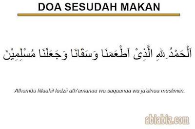 doa sesudah makan