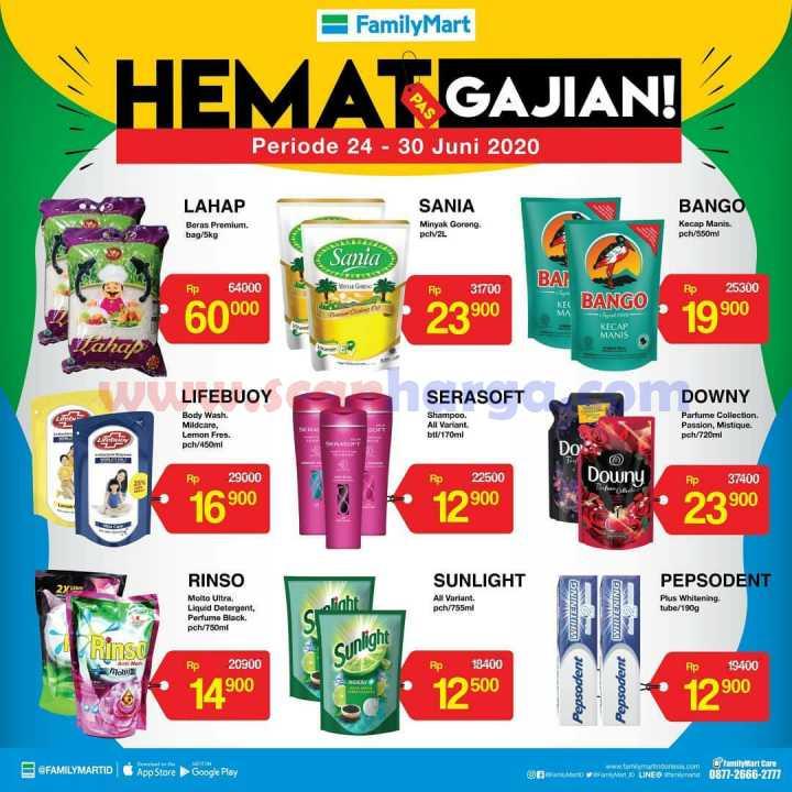 Katalog Promo Family Mart Hemat Pas Gajian 24 - 30 Juni 2020