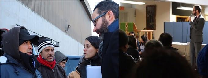 Xenofóbicos asedian y amenazan al cónsul de México en NY mientras hablaba con jornaleros en Yonkers