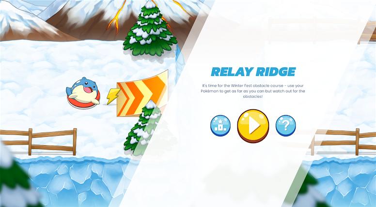 Pokémon Festival Inverno Percurso de Obstáculos