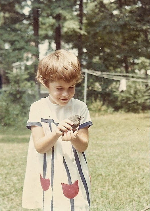 Throwback Thursday, me holding a bird, mid 1960's