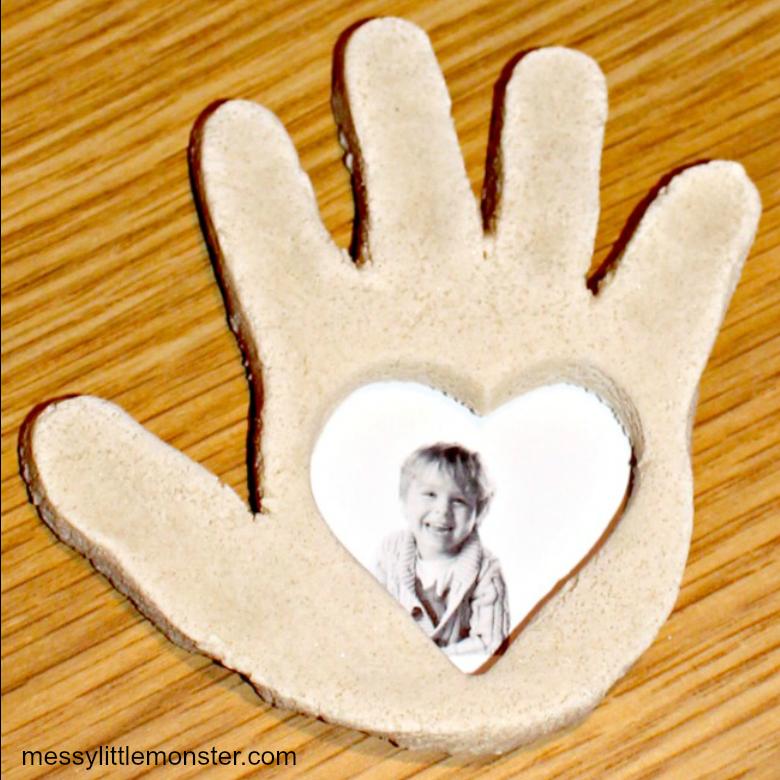Salt dough ideas - handprint frame craft