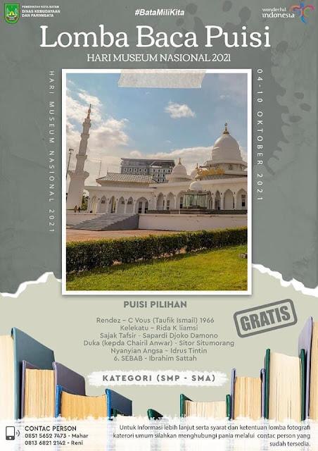 Museum Batam Raja Ali Haji Gelar Lomba Membaca Puisi dan Foto