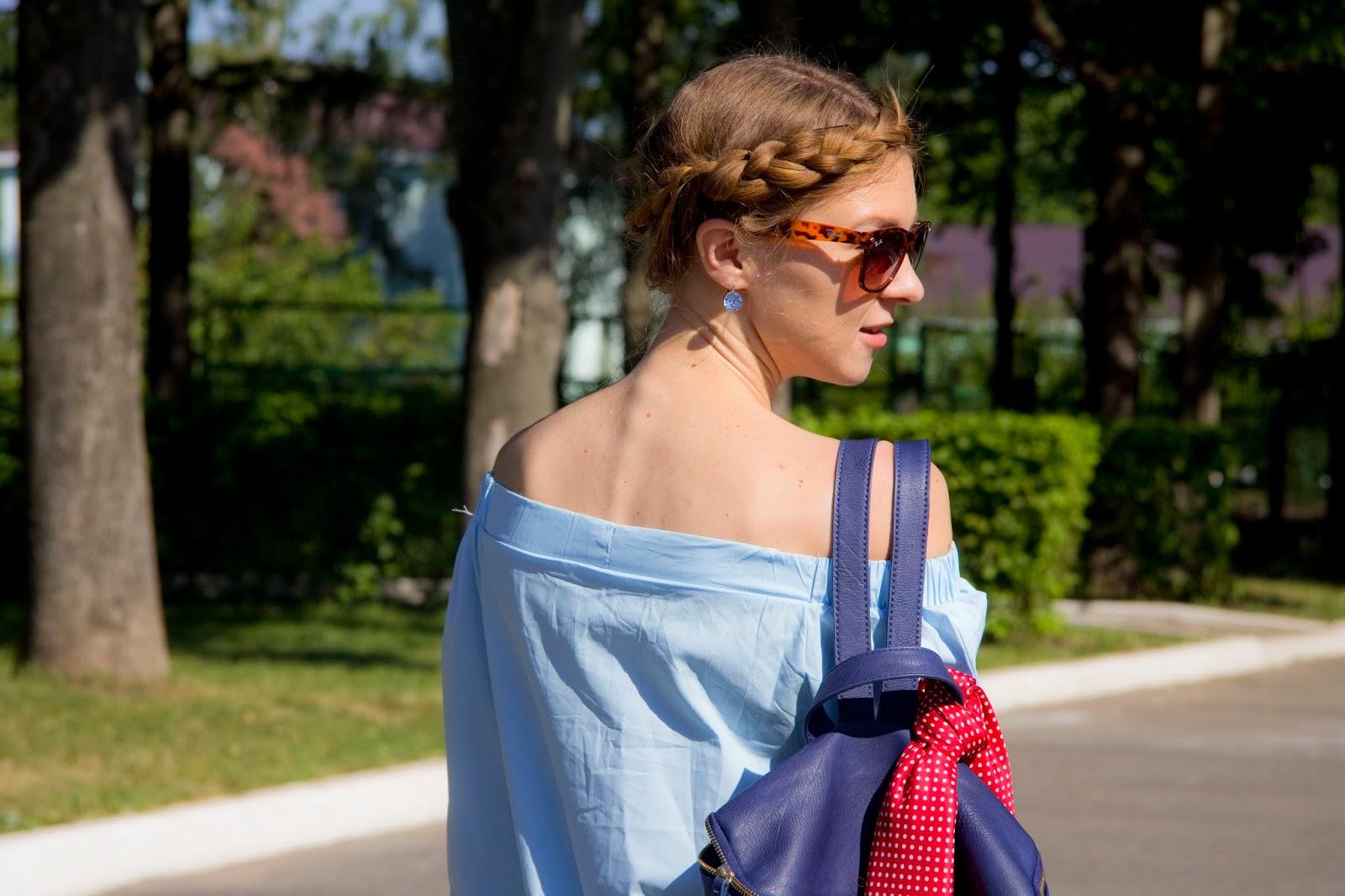 bluzka z odkrytymi ramionami