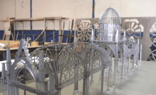 Almonte inicia las obras de la Catedral Efímera