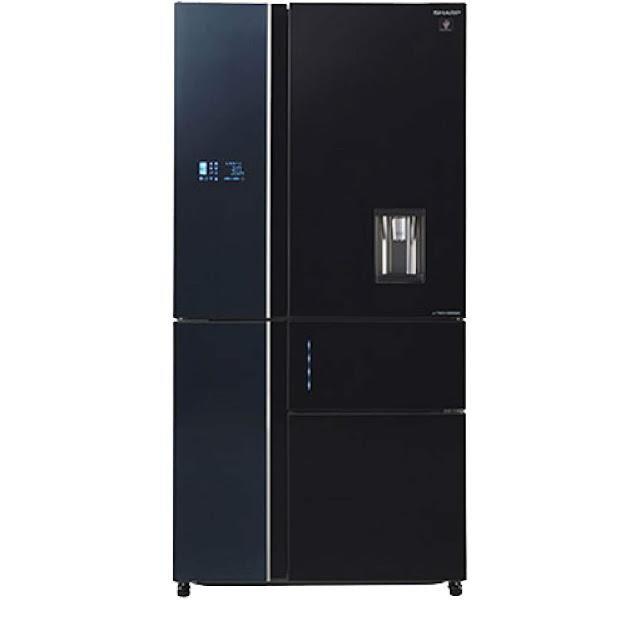 Tủ lạnh 5 cánh SBS Sharp SJ-F5X75VGW-BK