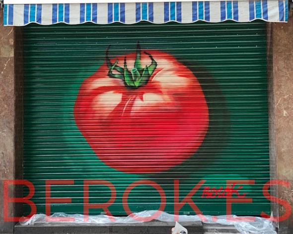 Graffiti tomate fruteria