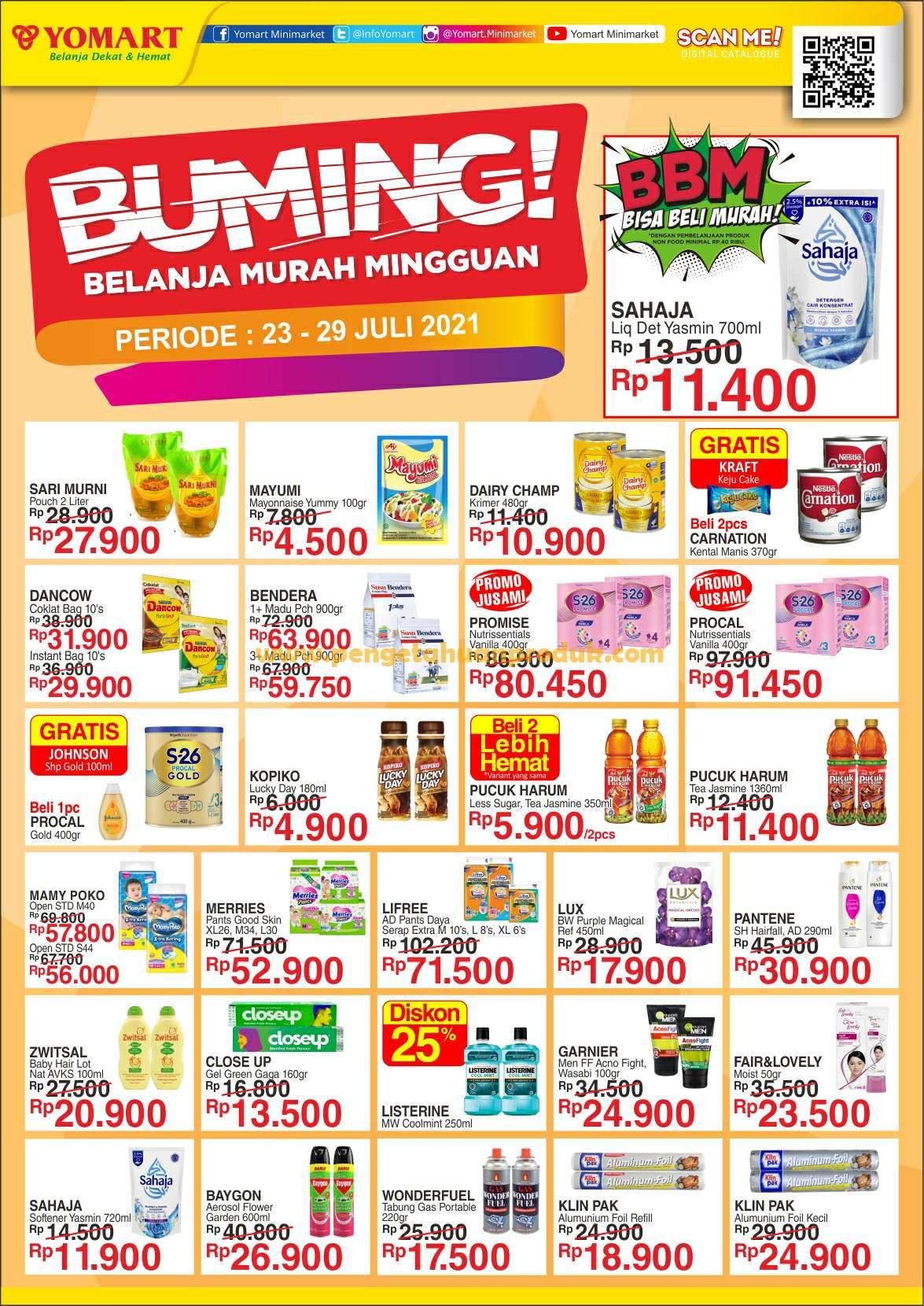 Katalog Promo Yomart Weekend Periode 23 - 29 Juli 2021