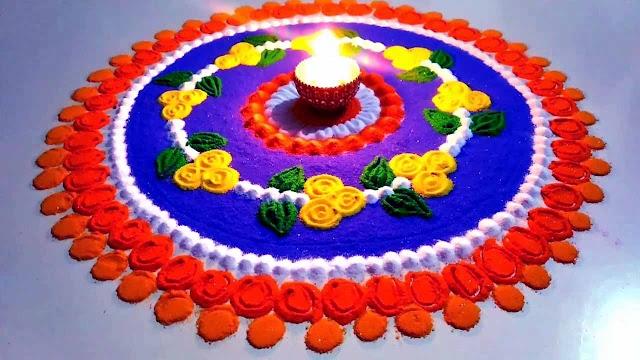 Rangoli Image for Diwali | Diwali Rangoli Image | Happy Diwali Rangoli Image
