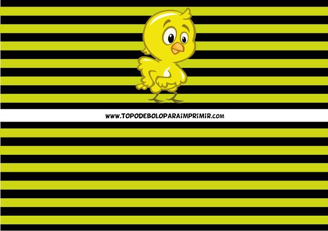 faixa lateral pintinho amarelinho