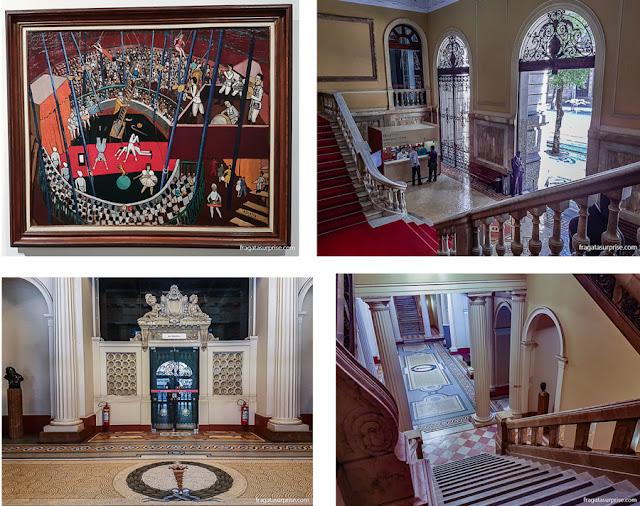 O Circo, de Djanira, um dos destaques do acervo do MNBA, e ambientes do museu