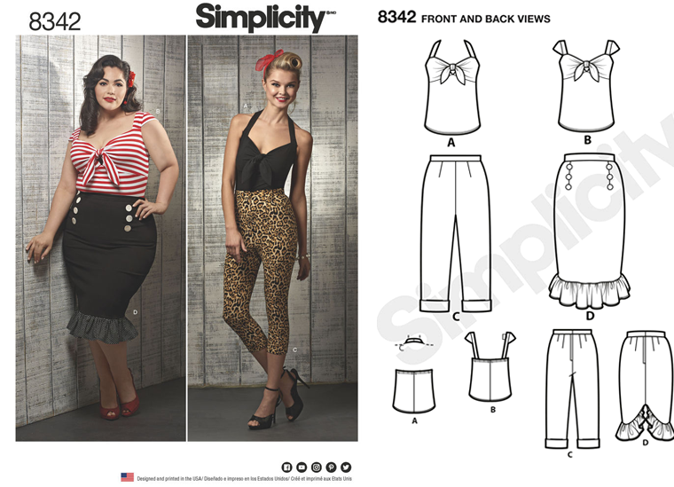 Simplicity 8342 - Rockabilly Tie Front Top + Sew Along! - The Crafty ...