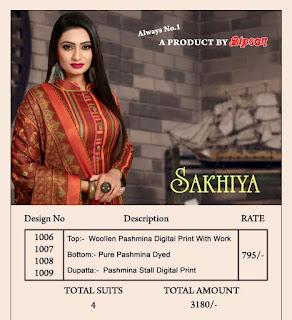 Bipson Sakhiya Woolen Pashmina Salwar Kameez Collection