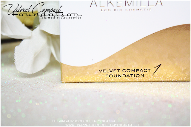 packaging velvet compact foundation, fondotinta compatto in crema alkemilla