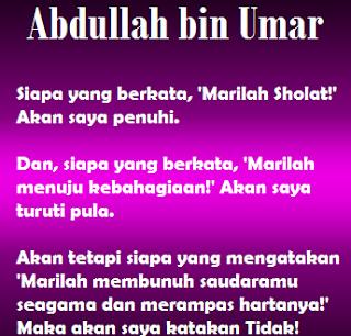 Kisah Sahabat Abdullah Bin Umar