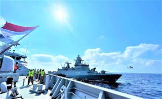 Mailbag Transfer Exercise Pembekalan Latihan KRI SIM-367 dengan Kapal Perang Jerman Laut Mediterania Lebanon