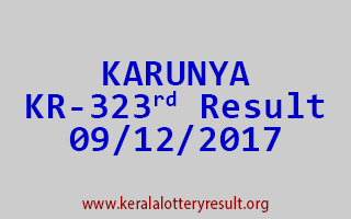 KARUNYA Lottery KR 323 Results 9-12-2017