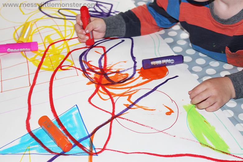 Kandinsky inspired process art for kids
