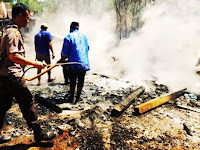 Sulit Dijangkau Mobil Damkar Pangkep, Rumah Guru SD Bonto Birao Ludes Dilalap Api