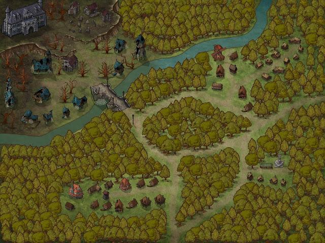 Aventura de nivel 1 para Dungeons & Dragons - El Engendro Vampírico - Pueblo Dorelta