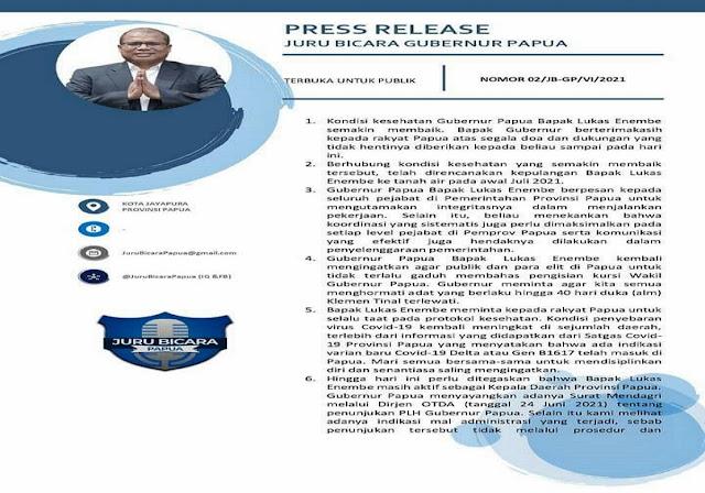 Lukas Enembe Akan Lapor Jokowi Terkait Penunjukkan Dance Yulian Flassy Sebagai Gubernur Papua.lelemuku.com.jpg