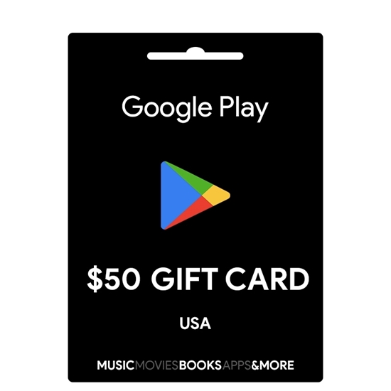 google play gift cards usa 50$ 1.150.000 VNĐ
